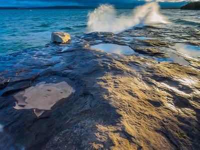 Fall Color-Lake Superior Shoreline-Early Morning